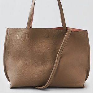 Street Level Reversible tote with crossbody strap